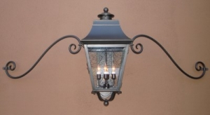 Moustached Wall Mounted Lanterns above Garage Doors