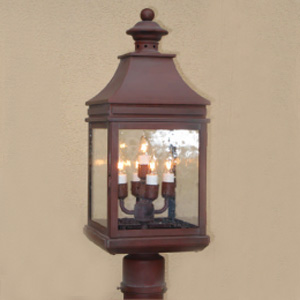 Customlightstyles Post mount lantern. P1140-1144