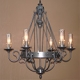 Custom produced solid brass exterior chandelier for Atlanta, GA by customlightstyles