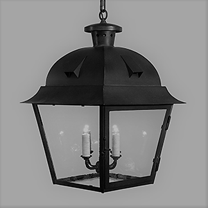 Custom fabricated exterior ceiling pendant lantern for Napa, CA by customlightstyles
