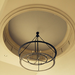 Custom, hand fabricated interior iron chandelier for NYC, NY by customlightstyles
