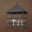 Custom bespoke exterior ceiling lantern for Napa, CA by customlightstyles