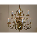 Custom, made-to-order, brass chandelier for Beverly Hills, CA by customlightstyles